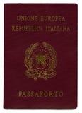 Geïsoleerd3 Italiaans Paspoort royalty-vrije stock foto