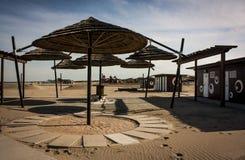 Een Italiaanse toevlucht van het woestijnstrand Stock Afbeeldingen