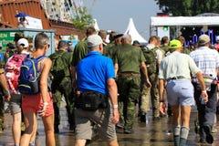 Een jaarlijks terugkomende grote het lopen gebeurtenis Stock Foto