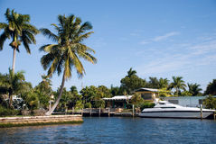 Een jacht van de Luxe in Florida Stock Afbeelding