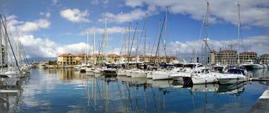 Een Jachtjachthaven in Middellandse-Zeegebied stock fotografie