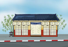Een Japans restaurant stock illustratie