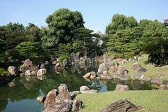 Een Japanse tuin Royalty-vrije Stock Afbeelding