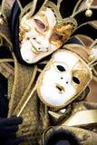 Een joker in Venetië Carnaval Stock Afbeeldingen