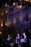 Een jol en het stadhuis in Lyon royalty-vrije stock afbeelding