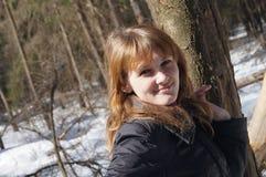 Een jong meisje? Stock Foto