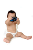 Een jonge Aziatische meisjesfoto met uitstekende camera Stock Afbeeldingen