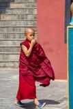 Een jonge Boeddhistische monnik stock foto