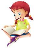 Een jonge dame die een boek lezen royalty-vrije illustratie