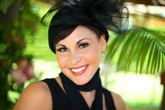 Een jonge glimlachende vrouw Royalty-vrije Stock Afbeeldingen
