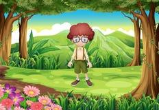 Een jonge heer bij het bos vector illustratie