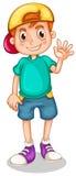 Een jonge heer die zijn hand golven vector illustratie