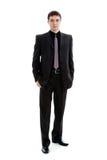 Een jonge mens in een kostuum, in van gemiddelde lengte. Royalty-vrije Stock Foto