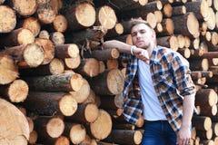 Een jonge mens met gebaard Royalty-vrije Stock Fotografie