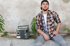 Een jonge mens met gebaard Royalty-vrije Stock Foto