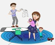 Een jonge moeder in wanhoop vector illustratie