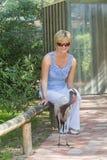 Een jonge vrouw in het bos Royalty-vrije Stock Foto