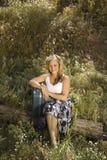 Een jonge Vrouw op een Reis Royalty-vrije Stock Afbeelding