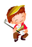 Een jongen Stock Afbeelding