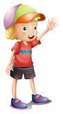 Een jongen die een kleurrijk GLB dragen stock illustratie