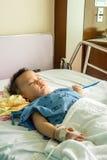 Een jongen heeft ziek Royalty-vrije Stock Foto