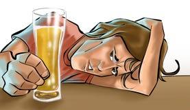 Een jongen het drinken bier Stock Foto