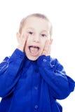 Een jongen vertelt een geheim stock afbeeldingen