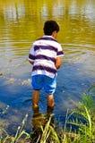 Een Jongen zoals Huckleberry Finn Royalty-vrije Stock Foto