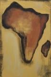 Een kaart van Afrika Royalty-vrije Stock Foto's