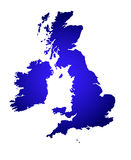 Een kaart van het Verenigd Koninkrijk stock illustratie