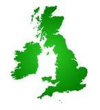 Een kaart van het Verenigd Koninkrijk royalty-vrije illustratie