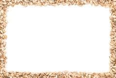 Een kader dat van zonnebloemzaden wordt gemaakt Royalty-vrije Stock Afbeelding