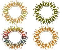 Een kader de zon. Royalty-vrije Stock Afbeeldingen