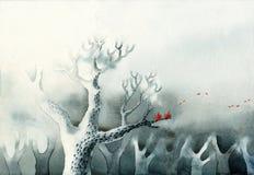 Een kale boom Stock Afbeeldingen