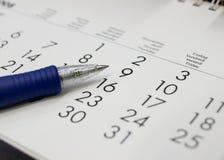 Een kalender Royalty-vrije Stock Afbeelding
