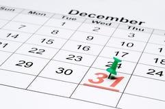 Een kalender met duidelijke de vooravond van het Nieuwjaar Stock Afbeeldingen