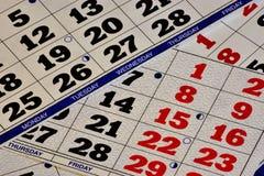 Een kalender-systeem om grote die perioden te tellen, op de frequentie van beweging van hemellichamen wordt gebaseerd Het tijdsch stock foto's