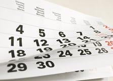 Een kalenderpagina Royalty-vrije Stock Foto