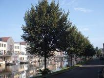 EEN KANAAL VAN AMERSFOORT IN NEDERLAND Stock Foto's