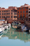 Een kanaal van Livorno Royalty-vrije Stock Foto