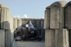 Een kanon is in bastion Royalty-vrije Stock Afbeeldingen