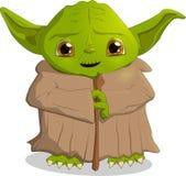 Een karakter van de filmsterrenoorlog, Yoda, formaateps 10 vector stock illustratie