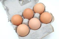 Een karton van Eieren Stock Afbeeldingen