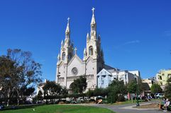 Een Kathedraal in San Francisco stock fotografie