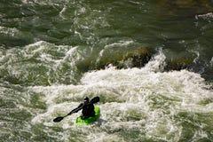 Een Kayaker in Goshen-Pas stock afbeeldingen
