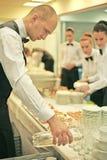 Een kelner Royalty-vrije Stock Foto's