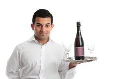 Een kelner of een barman Royalty-vrije Stock Afbeeldingen