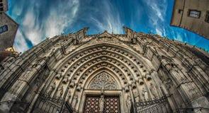 Een kerk in Barcelona Stock Afbeelding
