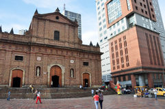Een kerk in Cali, Colombia royalty-vrije stock afbeeldingen
