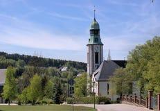Een kerk in Erzgebirge in Duitsland Stock Fotografie